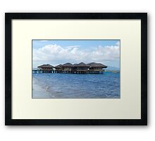 Dos Palmas Resort Cottages in Palawan, Philippines Framed Print