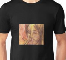 Man Smoking- Sepia Tones Unisex T-Shirt