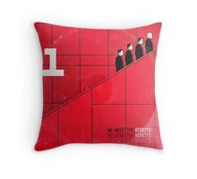 we were the robots (fade-out) Throw Pillow