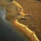 dawn rays on lake eyre shore by princesstea