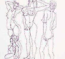 Malia In Purple Threads by Bonnie Aungle