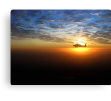 AH-64D at Sunrise Over Baghdad Canvas Print
