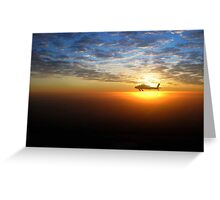 AH-64D at Sunrise Over Baghdad Greeting Card