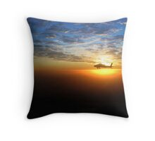AH-64D at Sunrise Over Baghdad Throw Pillow