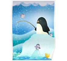 Triple Trouble penguins Poster