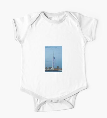 Spinnaker Tower, Portsmouth, south of England. Uk.  One Piece - Short Sleeve