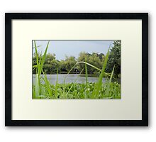 Ninoy Aquino Park and Wildlife Nature Center Lagoon's Cottage Framed Print