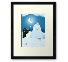Snow Penguin Framed Print