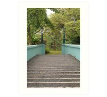 Ninoy Aquino Park and Wildlife Nature Center bridge Art Print