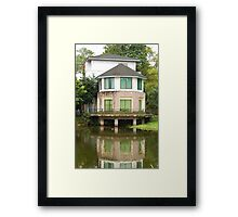 Ninoy Aquino Park and Wildlife Nature Center Lagoon Cottage Framed Print