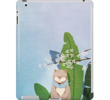 White Socks Series: Bear Under Sakura Blossom iPad Case/Skin