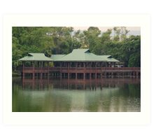 Ninoy Aquino Park and Wildlife Nature Center Lagoon hut Art Print