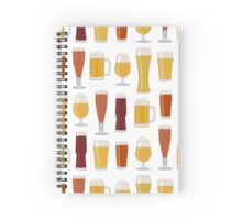 Beer Glasses Spiral Notebook