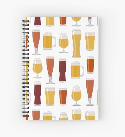 Beer Glasses Spiral Notebook