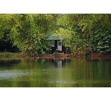 Ninoy Aquino Park and Wildlife Nature Center Lagoon Cottage Photographic Print
