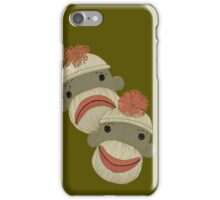 Tragedy and Comedy Sock Monkeys iPhone Case/Skin