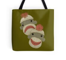 Tragedy and Comedy Sock Monkeys Tote Bag