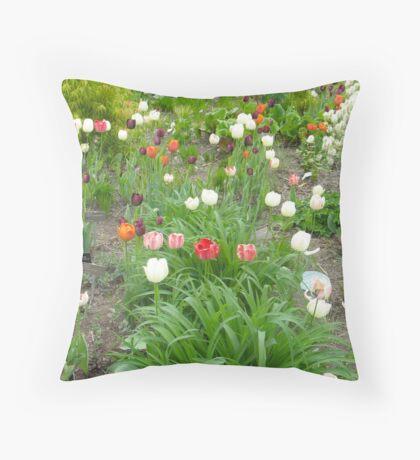 Tulip World Throw Pillow