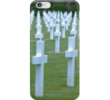 American WWII Cemetery - Colleville s/Mer Normandy France iPhone Case/Skin