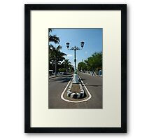 road light Framed Print