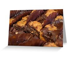 chocolate brownies with nuts Greeting Card