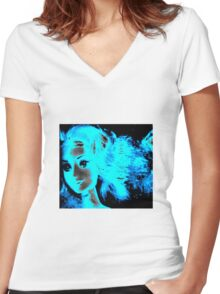 Neon Friend Women's Fitted V-Neck T-Shirt