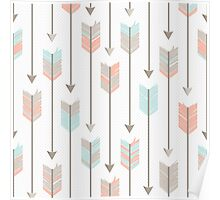 Boho Arrows Pattern Poster