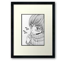 chie satonaka Framed Print