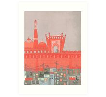 Purani Dilli, Old Delhi - A Postcard from India Art Print