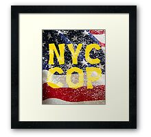New York NY City Cop T Shirts, Stickers and Other Gifts Framed Print