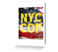New York NY City Cop Greeting Card