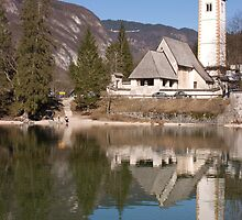 beautiful bohinj and its church by Ian Middleton