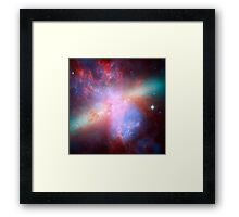 Galaxy and stars space nebula photograph hipster blue and pink print Framed Print