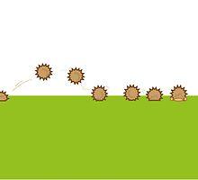hedgehog RUSH by lallalivia