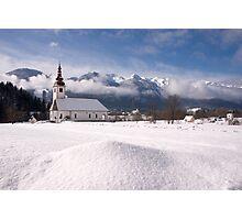beautiful bohinsjska Bistrica and its church Photographic Print