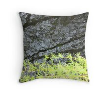 Dark Water Willow Throw Pillow
