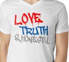Love, Truth & Honesty Mens V-Neck T-Shirt