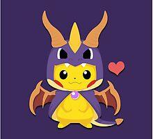 Mega Spyro Pikachu by SnapFlash