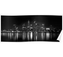 Night fall: Perth city, WA Poster