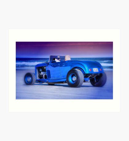 Cool cruiser, cooler dude. Art Print
