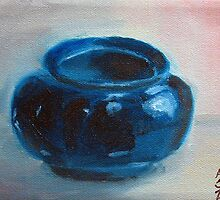 Tony's Thrown Blue Glaze by Amy-Elyse Neer