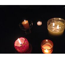 warm candle collection Photographic Print