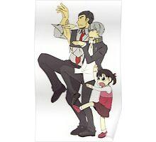 nanako and protag and dojima Poster