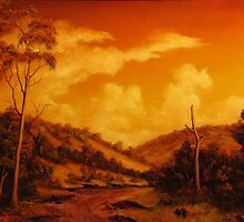 WARM SUNSET by John Cocoris