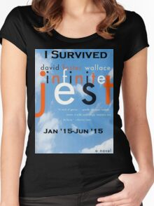Infinite Jest-Survivor Shirt  Women's Fitted Scoop T-Shirt