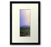 Misty Mount Cooke  Framed Print