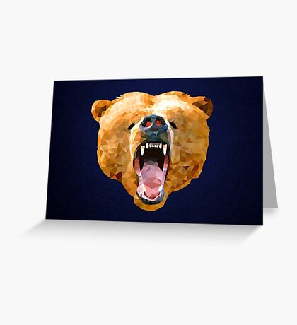 Poly Bear Greeting Card