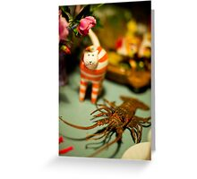 The Cat And The Lobster Were Not To Be Messed With Greeting Card