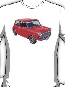 Red Mini Cooper Antique Car T-Shirt
