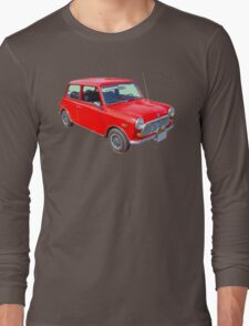 Red Mini Cooper Antique Car Long Sleeve T-Shirt